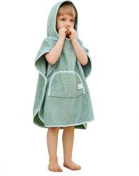 Van de Katoenen van het bamboe Dekmantel van de Robe van het Bad van de Meisjes van de Jongens van de Pool van de Douche Handdoeken van het Strand de Zachte Absorberende met Breuken