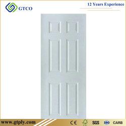820*2050*3mmの白いプライマーMDFのHDFによって形成されるドアの皮パネルの内部の木のドア