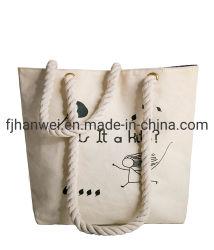 Luxus bereitet umweltfreundlichen Reißverschluss-Schliessen-Baumwollzeichenkette-Segeltuchtote-Beutel auf
