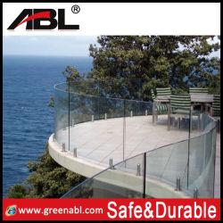 Ergot de balustrades en verre en acier inoxydable