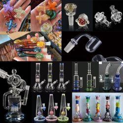 Dentro de las manos Cristal pirógena Tubo de agua narguile Pipa de vidrio del tubo de vidrio de vidrio Accesorios para fumar shisha tubo vaso