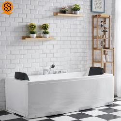 Nouveau modèle de l'homme a fait la pierre de granit de marbre baignoire de massage pour salle de bains