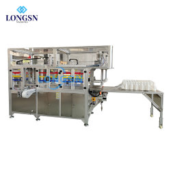 وحدة تحزيم البالات الآلية من أكياس ورق القنينة البلاستيكية عالية الجودة القابلة للتغليف، التي تعمل بكيس تجميع الخبز سعر معدات الماكينة