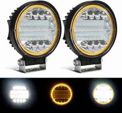 4.5인치 LED 라운드 라이트 바 72W 화이트 스팟 조명 황색 Angel Eye DRL 마커 라이트 LED 작업등 차량