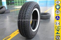 Pneu Comercial da parede lateral branca do pneu do carro (185R14C, 185R15C, 195R14C, 195R15C, 225/70R15C)