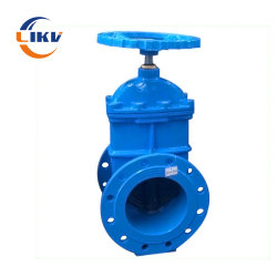물 처리 Pn16 연성이 있는 철 낭비 게이트 밸브 DN100