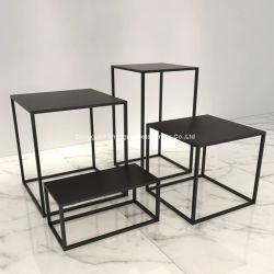 Tabella oblunga del lato del caffè della Tabella del sofà del quadrato nero della Tabella del metallo