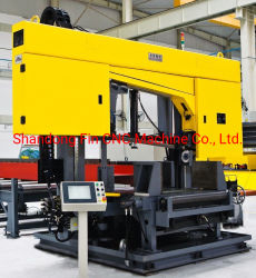 Costruzione di strutture in acciaio CNC Segatura automatica a fascio H/a fascio canalare/a linea di sega 200 mm*75 mm-1000 mm*500 mm