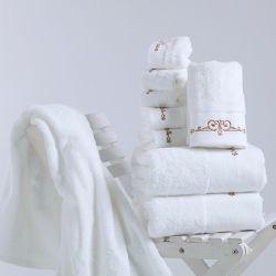 Personalizar as toalhas de banho Terry Hotel toalhas com logotipo de algodão