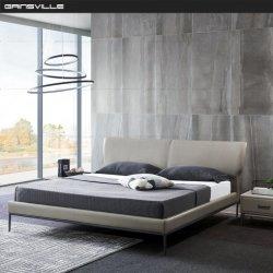 Basi King-Size stabilite della mobilia moderna della camera da letto singole doppie con i piedini neri dell'acciaio inossidabile