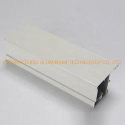 6000 Serien-Aluminiumprofile für Türrahmen-Puder-überzogenen Aluminiumstrangpresßling-Kanal-Preis
