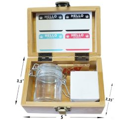 مصنع كالي لهامسا الليزر المحفور هندسي مربع منفضة الرماد، مطحنة الزنك 1.6 بوصة، دورق صغير منفضة الرماد - كل ذلك في علبة واحدة