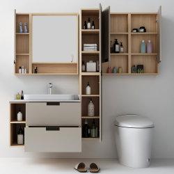В европейском стиле Итальянский кабинет бассейна цельной древесины в ванной комнате есть раковина