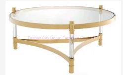 Populaire moderne Table à café en métal acrylique transparente