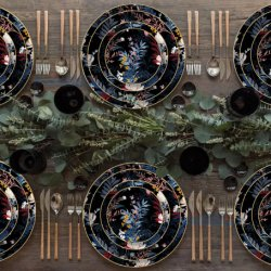 I piatti dentellare di ceramica di cerimonia nuziale di colore dei piatti di pranzo della qualità superiore hanno impostato gli articoli per la tavola di cerimonia nuziale di Cina di osso