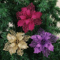 Оформление дерева Рождество Блестящие цветные лаки цветы на Группа дизайна