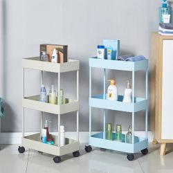 Hochwertige ABS 3 Lagen Aufbewahrungshalter & Racks mit Räder Lagerregal Haushaltsküche Lagerregale