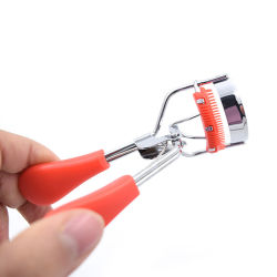 جهاز تجعيد الشعر اليدوي صغير الحجم ذو الزاوية الواسعة المحمول من الفولاذ المقاوم للصدأ بعين معدنية جهاز تجعيد الشعر