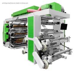 Plastic Film 6 van de nieuwe van de Hoge snelheid Verkoop van /Hot/van de Goede Kwaliteit Pet/HDPE/PE Flexographic Printer van de Kleur/de Verpakkende Machine van de Druk