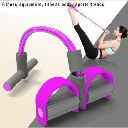 Pedal portátil Exerciser puxe a corda elástica desportiva coberta de emagrecimento equipamento de fitness