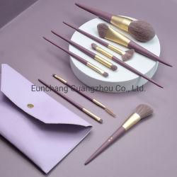 فرشاة مخصصة من قبل OEM Purple Handle 9PCS Makeup Brush Set Professional Brush