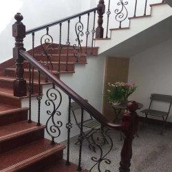 Materiale del ferro dei corrimani della scala della vernice di essiccamento di alta qualità