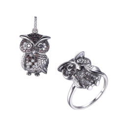 cadeau de promotion Fashion Design Owl bijoux Set