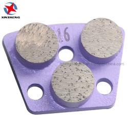قطع الطحن الماس قطع معدنية الأرضية الخرسانة الطحن الأحذية ثلاثة وسادة كاشطة للزر لماكينة الجلاخة HTC