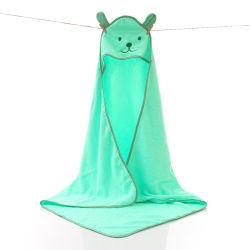 100% Baumwolle Kinder Baby Bad Kapuzenhandtücher Waschlappen Bambus Baby Kapuzen Waschlappen-Set mit Tierdesign