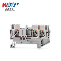 As máquinas Parte de hardware no terminal de pressão do conector de bloco Terminal Cinza personalizada de fio de 2,5mm 3 vias