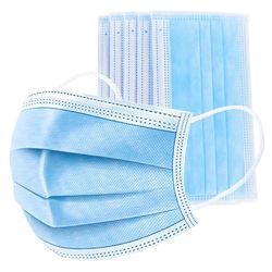 Masque jetable 3 couches respirateur de filtre anti-poussière bactéries Mouth-Muffle preuve face à la bouche de la grippe masque Contour en stock Hot