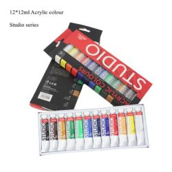 12 Set di colori pigmenti acrilici 12X12 ml provette Phoenix