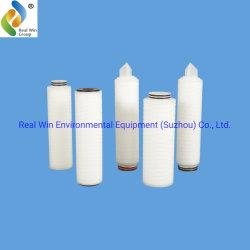 Cartouche filtrante plissée en PP de haute qualité pour filtration de l'eau