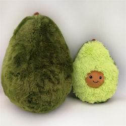 Speelgoed van het Fruit van het Hoofdkussen van de Avocado van het Stuk speelgoed van de Pluche van de douane het Groene Zachte Pluche Gevulde