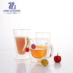300ml-500ml fábrica Mayorista de café de la pared de vidrio doble vidrio para el té o zumo (GB510010400)