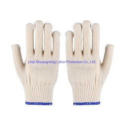 Fabrik-weiße Baumwolle gestrickte Handschuhe für Arbeitskräfte