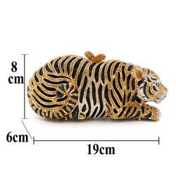 На заводе дешевые цены леди обувь и соответствующий набор подушек безопасности Diamond Cyrstal Tiger вечер мешок