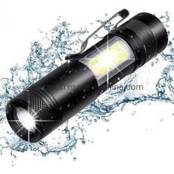 À prova de super brilhante XPE Zoom sabugo Mini-lanterna