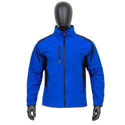 سترة ناعمة ناعمة ذات لون أزرق ملكي مضادة للماء للرجال مع أناقة جيوب متعددة