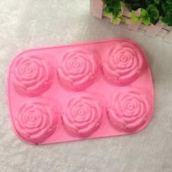 Muffa di saponeria del silicone del fiore dell'OEM 3D Rosa di abitudine