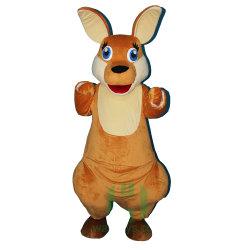 カンガルーの衣裳の広告のための動物のマスコットの衣裳