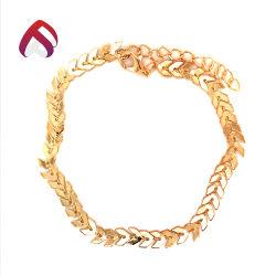 Style en vogue 925 sterling plaqué or Bijoux en argent avec épi de blé Bracelet pour femme