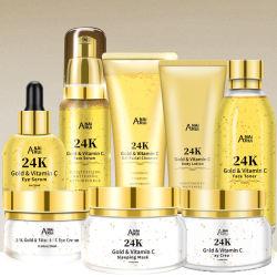Eigenmarken-Haut-Sorgfalt Gesichts-Toner-Haut-Sorgfalt des gesetztes Skincare Geschenk-gesetztes Gold24k kosmetische
