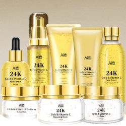 Etiqueta Privada de cuidados da pele hidratantes Conjunto Conjunto de Oferta de ouro de 24K Toner Face Cosméticos cuidado da pele