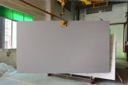 Il grande marmo cinese di Grey del controsoffitto 3200*1800mm della cucina della lastra del granito ha costruito la superficie fatta saltare sabbia all'ingrosso di pietra della parte superiore di vanità del granito dell'onda dello spruzzo del quarzo