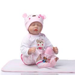 22-дюймовый спальные реалистичные ручной работы для всего тела или мягкая силиконовая возрождается Baby dolls с закрыть глаза
