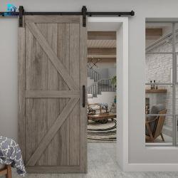 نمط أمريكي حديث جراج منزلق الباب بارن أجهزة مع مسار واحد للأبواب الخشبية المزدوجة