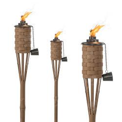 정원 화재 토치 합성 인조 플라스틱 대나무 토치