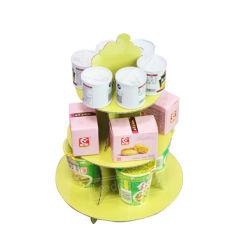 Ronda personalizada boda al por mayor de productos de alimentación de 3 niveles de cartón pastel Cupcake Stand
