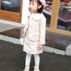 Детей износа. девочка в платье. Дети подвержены износу. Детской одежды. Зимой девочек нового стиля и моды нанесите на короткие юбки Костюм девушки Два высокого качества - Компонент набора.